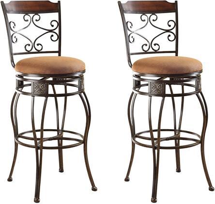Acme Furniture 96045 Tavio Series Residential Fabric Upholstered Bar Stool