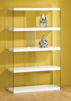 Coaster 800306Bookcases Series Glass/Wood 4 Shelves Bookcase
