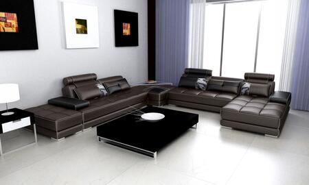 VIG Furniture VGEVSP5005 Divani Casa Phantom Series Stationary Leather Sofa