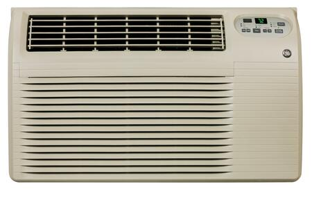 GE AJEQxDCF Through the Wall Air Conditioner with x BTU Cooling, x  BTU Electric Heat, x EER, R-410A Refrigerant, x Pts/Hr Dehumidification, ADA Compliant, and x Volts in Grey