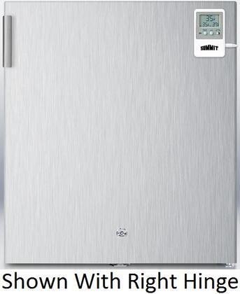 Summit FFAR22LWCSSMEDLHD Med Series All Refrigerator with 1.6 cu. ft. Capacity in Stainless Steel