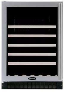 "AGA APRO61WCMBLKR 23.88"" Built-In Wine Cooler, in Black"