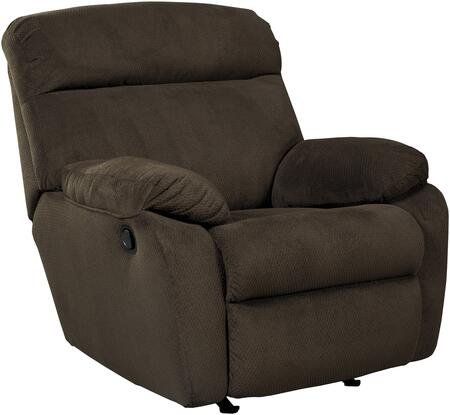 """Benchcraft 5230 Demarion 38"""" Rocker Recliner with Pillow Top Arms, Split Back Cushion, Metal Frame and Fabric Upholstery in"""