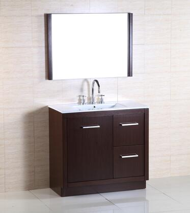 Bellaterra Home 502001A Vanity and Mirror Set