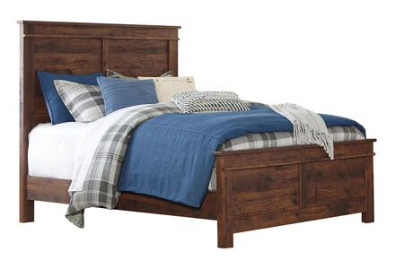 Signature Design by Ashley Hammerstead Collection B407PANEL X Size Panel Bed with Replicated Cherry Grain Details and Clean-Line Design in Brown