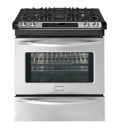 Frigidaire FGDS3065KF Gallery Series Slide-in Dual Fuel Range with Sealed Burner Cooktop Warming 4.2 cu. ft. Primary Oven Capacity
