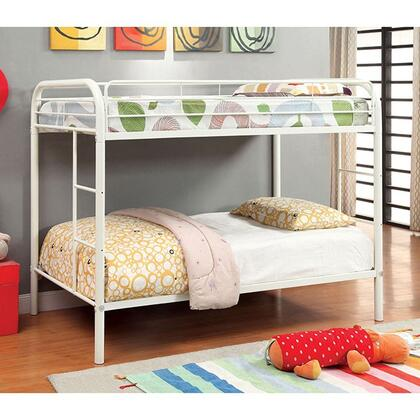 Furniture of America CMBK1032WH Rainbow Series  Twin Size Bed