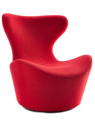 VIG Furniture VGOBTY92RED Modrest Hadrian Series Armless Fabric Metal Frame Accent Chair