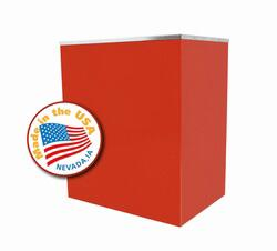 Paragon 30310 Classic Pop Stand with Commercial Grade Steel Construction and Two inner shelves for Supplies Storage.