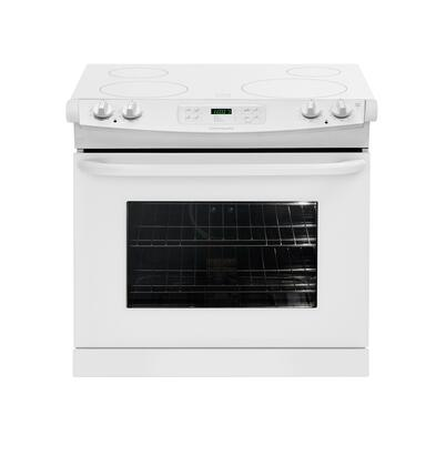"Frigidaire FFED3025LW 30"" Slide-in Electric Range with Smoothtop Cooktop 4.2 cu. ft. Primary Oven Capacity"