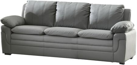 "Glory Furniture 80"" Sofa with Removable Backs, Pillow Top Arms, Wood Frame Construction and Faux Leather Upholstery in"