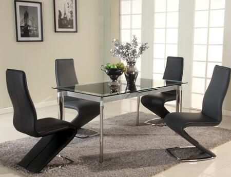 Chintaly TARADTBLKSET Tara Dining Room Sets