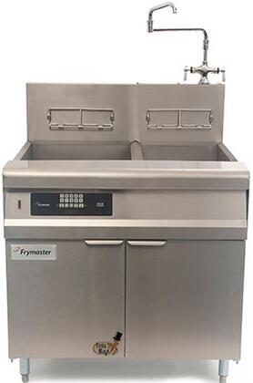 """Frymaster GPCR 36"""" Pasta Magic Series Commercial Gas Pasta Cooker with 80000 BTU, 15 Gallon Capacity, Programmable Timer Controller, Infrared Burners and Swing Hot/Cold Faucet, in Stainless Steel:"""