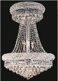 "J & P Crystal Lighting Bangle Collection SP1800D28 28"" Wide Chandelier in X Finish"