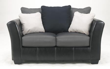 Loveseat Front View - Cobblestone