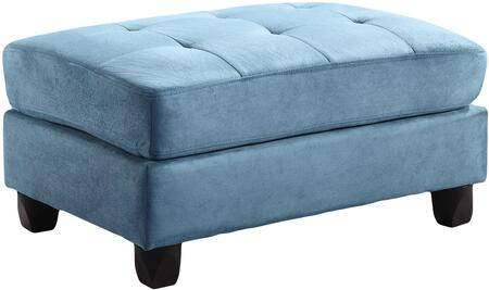 """Glory Furniture 38"""" Ottoman with Tufted Seat, Rectangular Shape and Suede Fabric Upholstery in"""