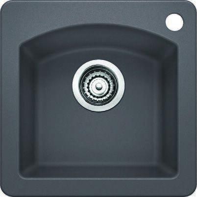 441477 Diamond Bar Sink Silgr II