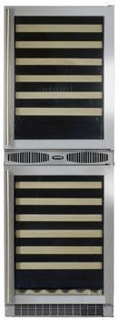 "Marvel 66SWCEBBGR 24.13"" Freestanding Wine Cooler, in Black Frame Glass Door"