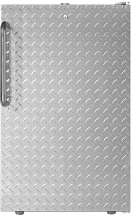 """AccuCold FS408BL7DPLx 20"""" Upright Freezer with 2.8 cu. ft. Capacity, Manual Defrost, Factory Installed Lock, Adjustable Thermostat and Professional Towel Bar Handle, in Diamond Plate"""