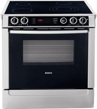 """Bosch HEI7052U 30"""" 700 Series Slide-in Electric Range with Smoothtop Cooktop Storage 4.6 cu. ft. Primary Oven Capacity"""