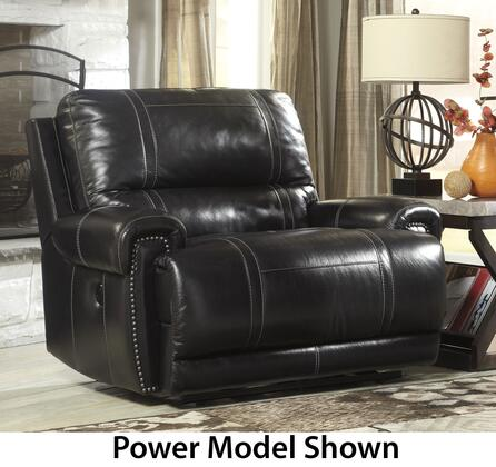 Signature Design by Ashley Paron U7590REC Zero Wall Wide Seat Recliner with Padded Arms, Divided Back Cushion and Contrast Stitching Details in