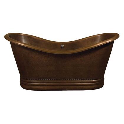 """66"""" Copper Double Slipper Tub"""