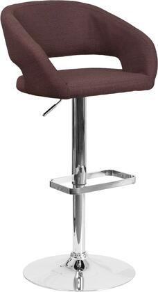 Flash Furniture CH122070BRNFABGG Residential Fabric Upholstered Bar Stool