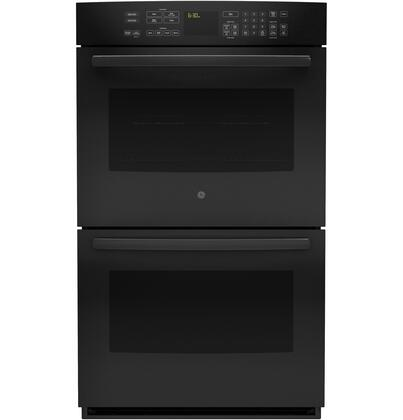 """GE Profile PT9550 30"""" Double Convection Oven with Glass Touch Controls, Designer Style Handle, Self Clean with Steam Clean Option, Progressive Halogen Oven Lighting, Ten-pass Bake Element and Brillion-Enabled in"""