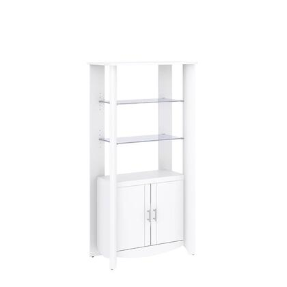 Bush Furniture MY16X9203 Aero 2-Door Tall Library Storage