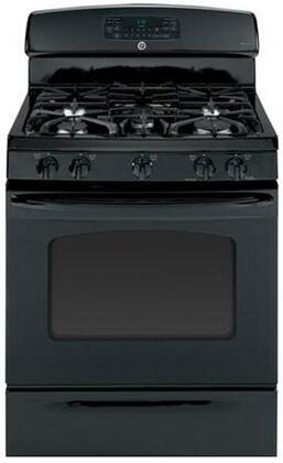 "GE JGB750DEFBB 30""  Black Gas Freestanding Range with Sealed Burner Cooktop, 5.6 cu. ft. Primary Oven Capacity, Storage"