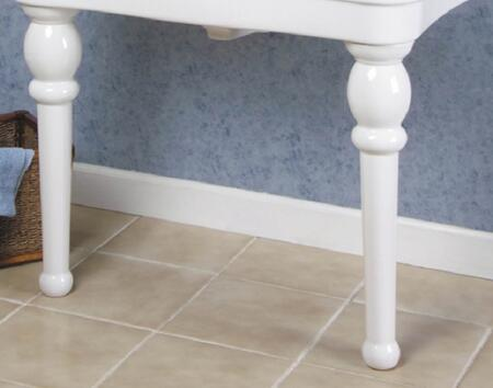 Barclay PGP Versailles Console Leg(s): Matched Pair or Console Leg with Fine Fire Clay Construction in White