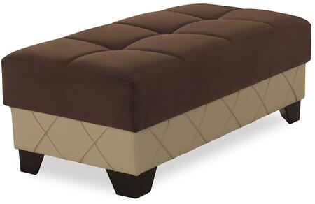 """Casamode Molina Collection MOLINA OTTOMAN 48"""" Ottoman with Stitching Details, Tufted Top and"""