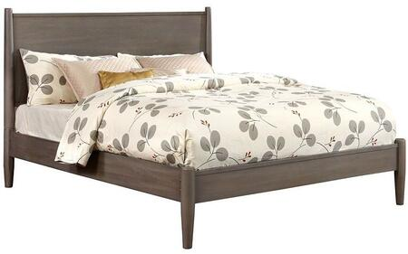 Furniture of America CM7386GYEKBED Lennart Series  King Size Panel Bed