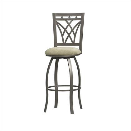 Linon 02720MTL01KDU Crown Back Series Residential or Commercial Bar Stool