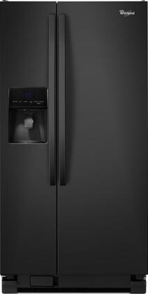 "Whirlpool WRS342FIAB 33""  Side by Side Refrigerator with 21.3 cu. ft. Capacity in Black"