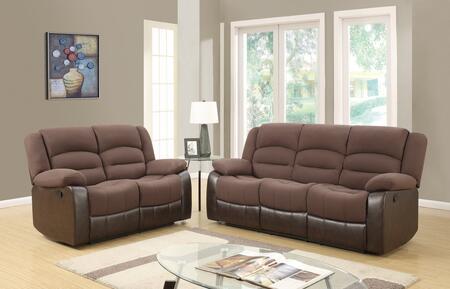 Glory Furniture U98243D128CHOCOLATEPURSRLS U98243 Living Roo