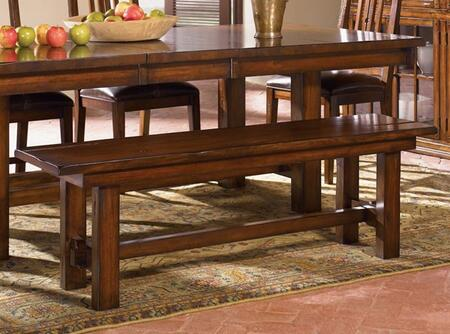AAmerica MESAM295K Mesa Rustica Series Kitchen Armless Solid Mahogany Not Upholstered Bench