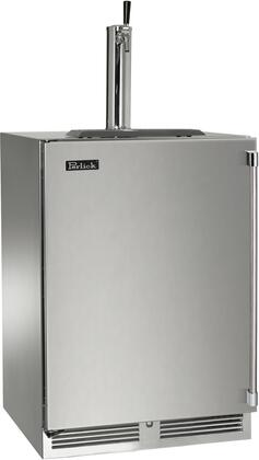 """Perlick HP24TS31x1 24"""" Indoor Beer Dispenser with Rapidcool Forced Air Refrigeration System, Stainless Steel Interior and 995 BTU Variable-Speed Compressor, in Stainless Steel with"""