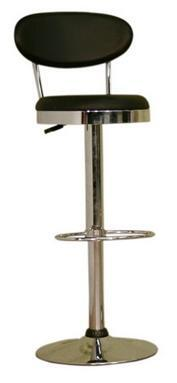 Wholesale Interiors BS030ABLACK Achilla Series  Bar Stool