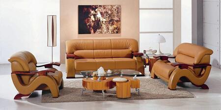 VIG Furniture VGEV2033CAMEL Modern Leather Living Room Set