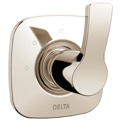 Tesla T11852-PN Delta Tesla: 3-Setting 2-Port Diverter Trim in Polished Nickel