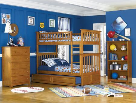 Atlantic Furniture YBBCOLUMBIATWINTWINALCL Columbia Series  Twin Size Bunk Bed