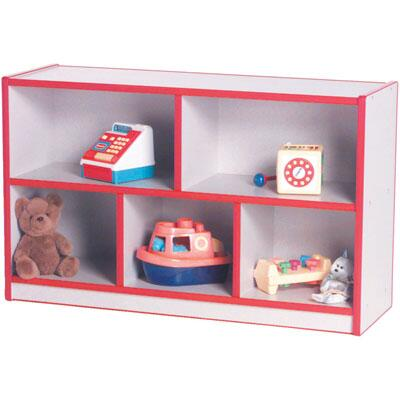 Mahar M50850 3 Compartments Single Sided Storage Unit in Maple Finish with Edge Color (Pre-School)