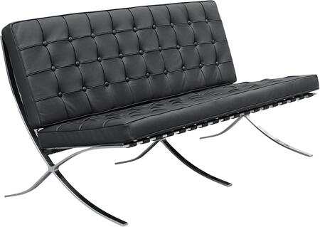 Fine Mod Imports FMI4002 Pavilion Collection Leather Loveseat: