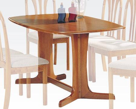 """Acme Furniture Stockholm Collection 59"""" Rectangular Dining Table with Waterfall Top, Double Leg Fix, Trestle Pedestal Base and Okume Veneer Materials in"""