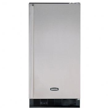 Marvel 30IMATWWOR  Built In Ice Maker with 30 lbs. Daily Ice Production, 30 lbs. Ice Storage, in White Cabinet, Requires Custom Panel