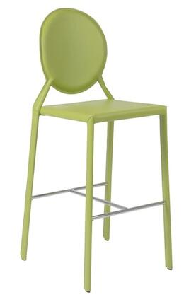 Euro Style 02482GRN Isabella Series Leather Upholstered Bar Stool