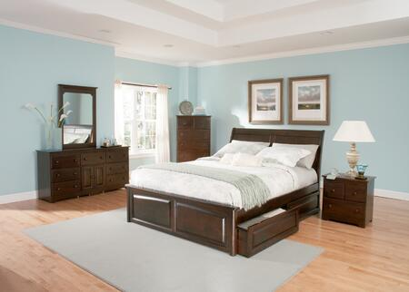 Atlantic Furniture BORRPAWQN Bordeaux Series  Bed