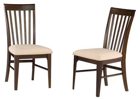 Atlantic Furniture MONTREALDCOC Montreal Collection Set of 2 Dining Chairs with Oatmeal Seat Cushions: