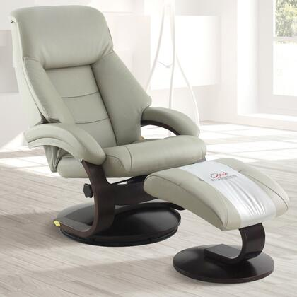 Mac Motion 58LO34 Top Grain Leather Swivel, Recliner with Ottoman